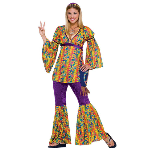 Purple Haze Hippie Adult Costume