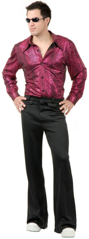 Disco Shirt - Liquid Red & Black Adult Costume