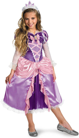 Tangled - Rapunzel Lamé Deluxe Toddler / Child Costume