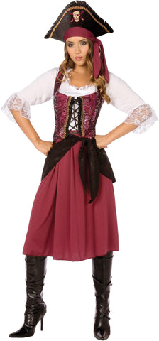 Burgundy Pirate Wench Adult Costume