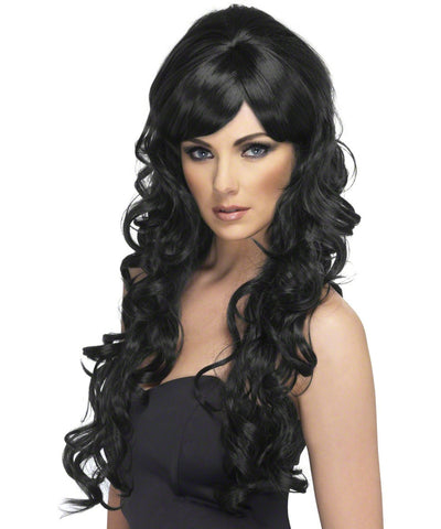 Pop Starlet (Black) Adult Wig