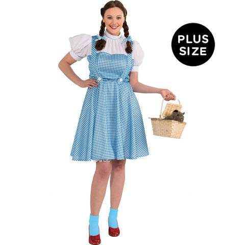 Wizard of Oz Dorothy Adult Plus Costume