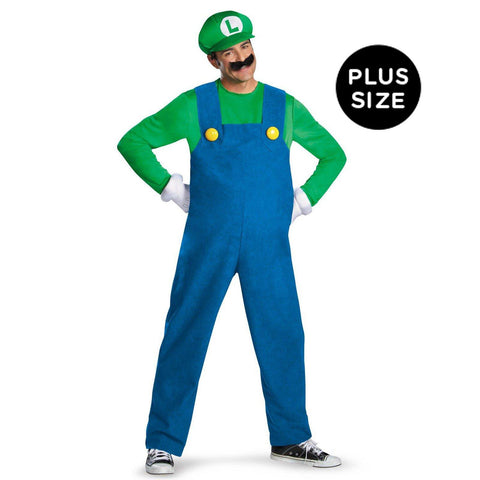 Super Mario Brothers Luigi Adult Plus Costume