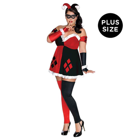 DC Comics Super Villans Harley Quinn Plus Size Adult Costume
