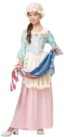 Patriot Colonial Girl Child Costume