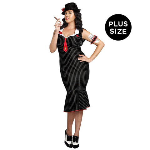 Deadly Dames Gangster Adult Costume Plus