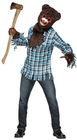 Psycho Teddy Bear Adult Costume