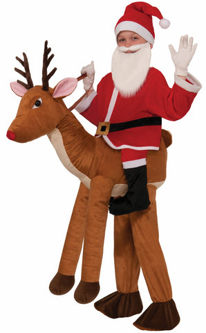 Santa Ride a Reindeer Child Costume One-Size