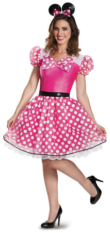 Pink Minnie Mouse Glam Adult Costume
