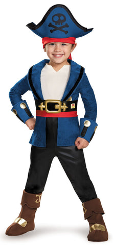 Captain Jake and the Neverland Pirates: Captain Jake Deluxe Toddler Costume
