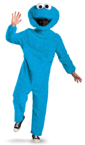 Sesame Street Cookie Monster Plush Prestige Adult Costume XL