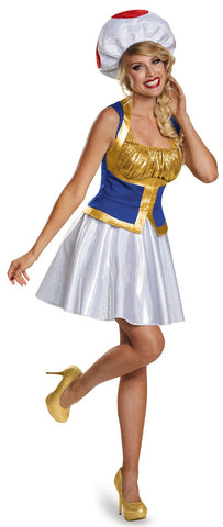 Super Mario Bros: Toad Female Adult Costume