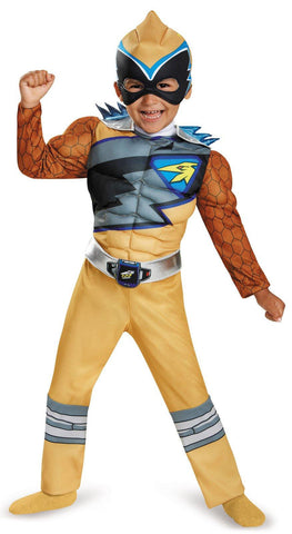 Power Rangers Dino Charge: Gold Ranger Muscle Toddler Costume