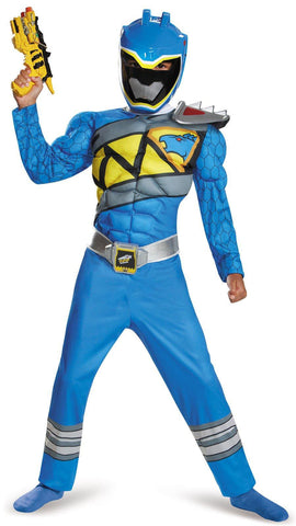 Power Rangers Dino Charge: Blue Ranger Muscle Child Costume