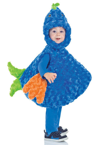 Big Mouth Blue Fish Toddler Costume