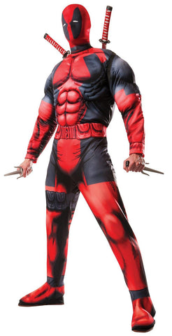 Mens Deluxe Deadpool Costume