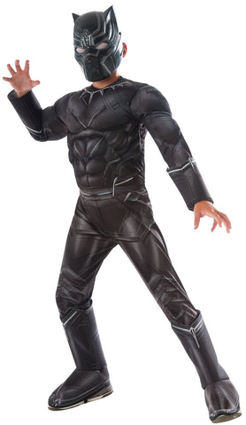 Marvel's Captain America: Civil War Kids Black Panther Deluxe Muscle Chest Costume