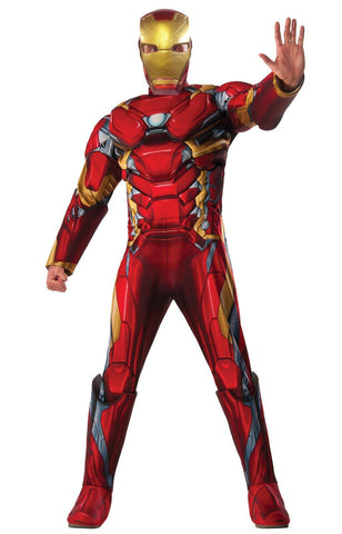 Marvel's Captain America: Civil War Mens Iron Man Deluxe Costume