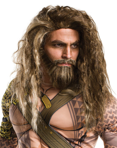 Batman v Superman: Dawn of Justice - Aquaman Beard And Wig For Men