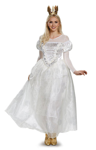 Alice Through the Looking Glass: White Queen Deluxe Adult Costume Plus