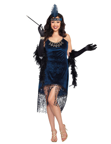 Downton Doll Flapper Adult Plus Costume