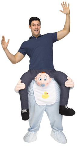 Clown Riding on Shoulder Adult Costumes
