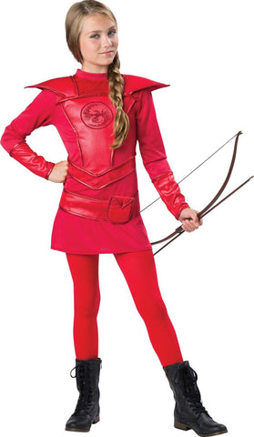 Red Warrior Huntress Child Costume