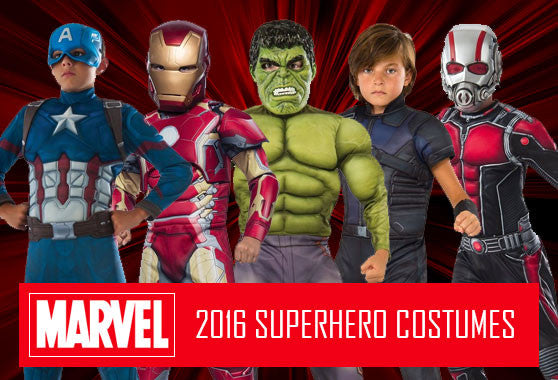 kid's marvel superhero costumes