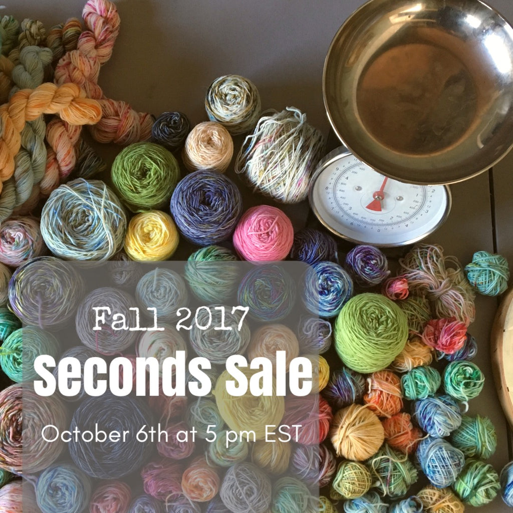 Fall 2017 Seconds Sale!