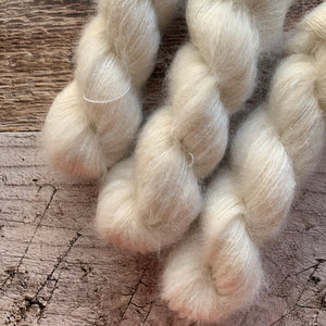 Natural on Mohair + Silk Yarn