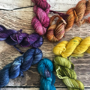 ROYGBIV Plush Single Mini Skein Set