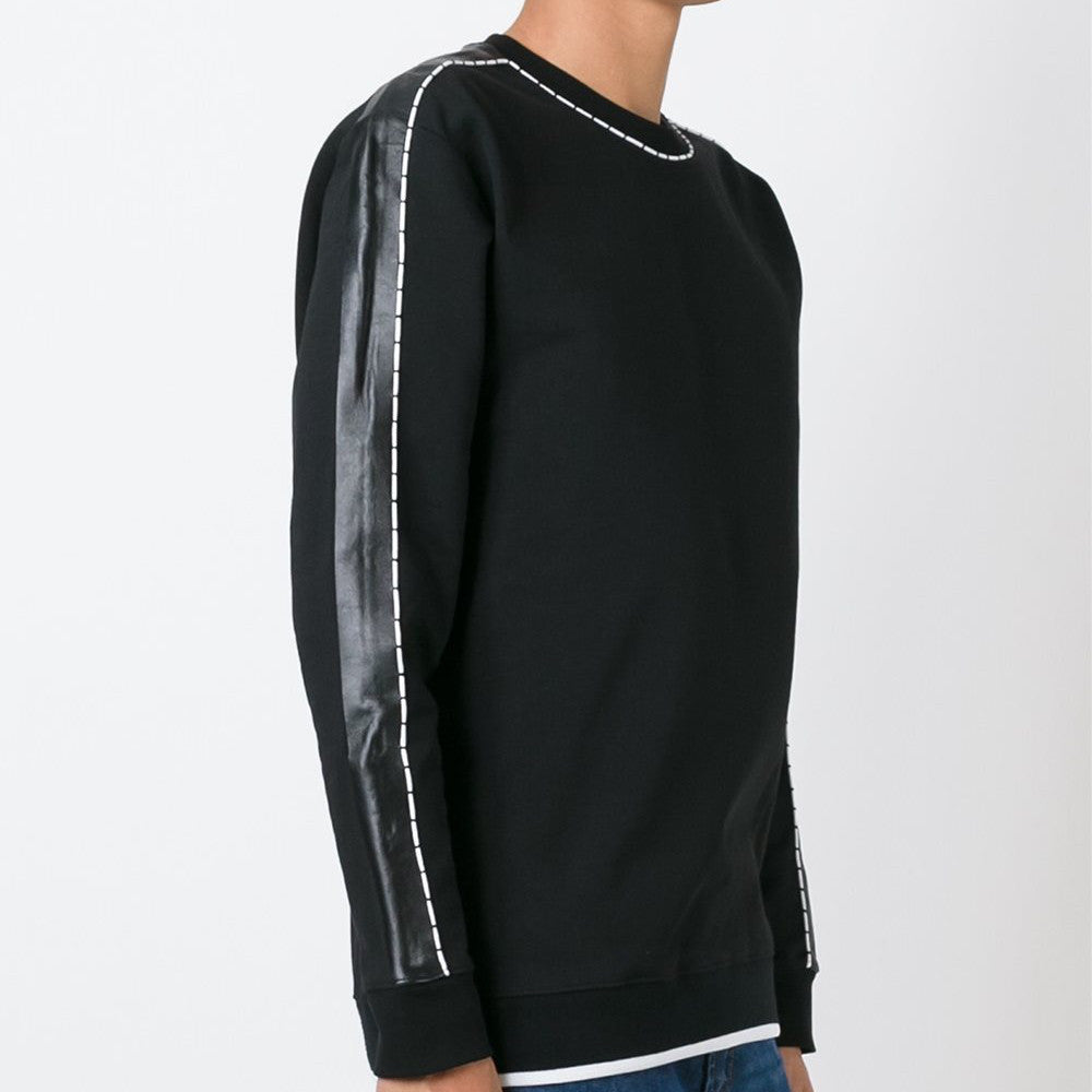 Piped Sweatshirt Black