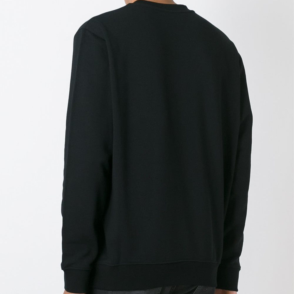 Masai Fairisle Stitched / Mixed Print Crewneck Black
