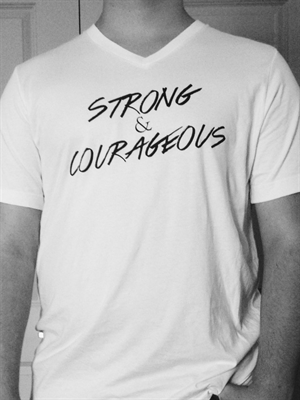 Unisex Strong & Courageous V-Neck T-Shirt