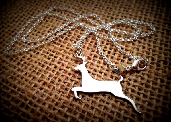 Stainless Steel Polished Deer Necklace