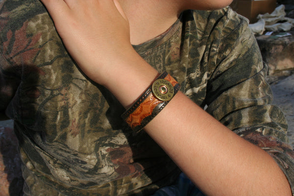 Custom Made Leather Cuff Bracelet by Ozark Mountain Leather