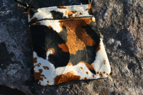 Faux Cow Hair Cross Body Purse