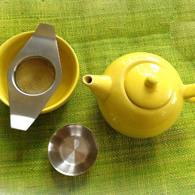 Tea for One Teapot and Mod Tea Strainer