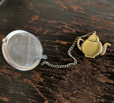 Tea Ball with Bronze Teapot