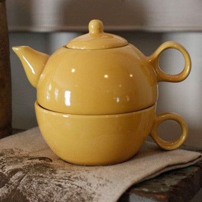 Tea for One Teapot - Yellow