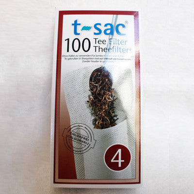 T-SAC #4 Tea Filter Bags - 100 Ct