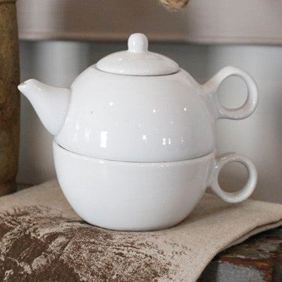Tea for One Teapot - White