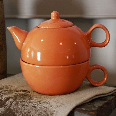 Tea for One Teapot - Orange