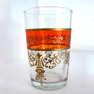Moroccan Tea Glass - Banded
