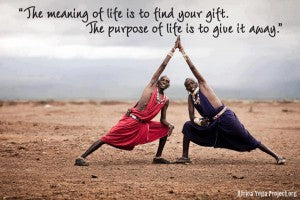 The meaning of life is to find your gift Tthe purpose of life is to give it away
