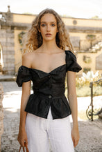 Amore Top - Black Linen (Made-to-Order)