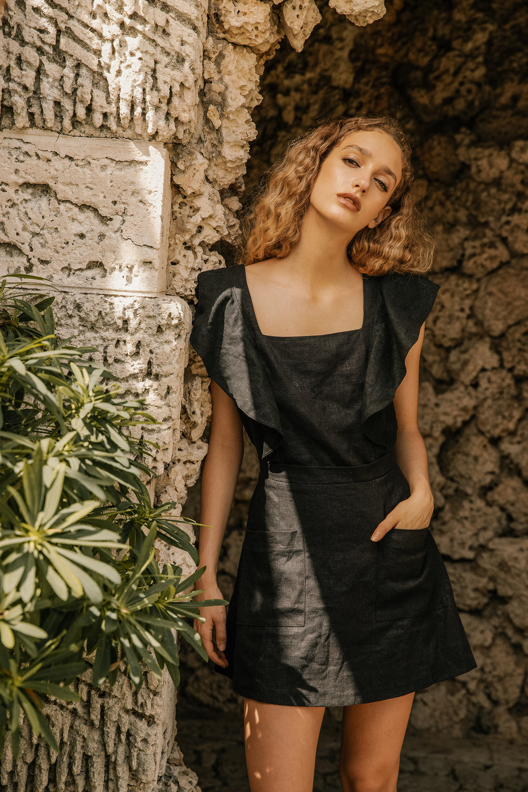 Florence Dress - Black Linen (Pre-Order)