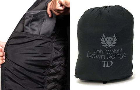 Down Range jacket hidden pocket