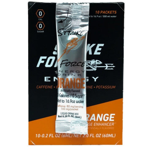 Strike Force Energy 10 Count Box - Orange