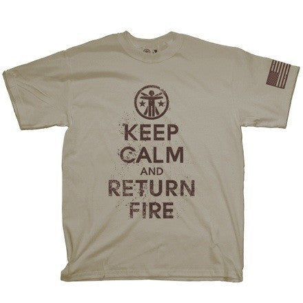 SSD x TD Keep Calm And Return Fire 2.0 Shirt Keep Calm Graphic Tee - 2